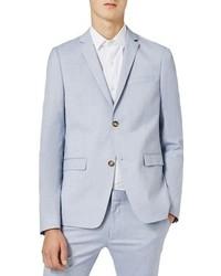 Topman Blue Ultra Skinny Fit Suit Jacket