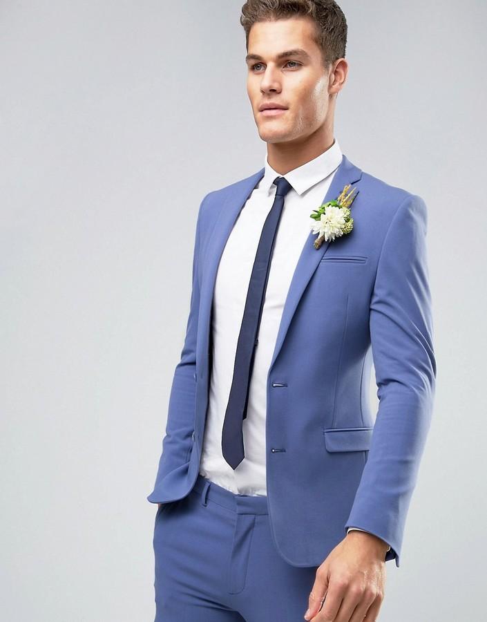 f80943579e8 Asos Wedding Super Skinny Suit Jacket In Deep Blue, $52   Asos ...