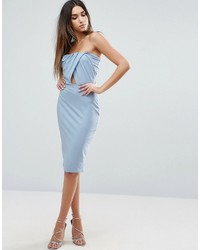 Asos Bandeau Knot Top Midi Bodycon Dress