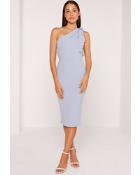 293f6489c0ff ... Missguided One Shoulder Bodycon Midi Dress Powder Blue