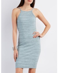 Charlotte Russe Ribbed Open Back Bodycon Dress