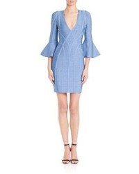 Herve Leger Yasmine Bell Sleeve Dress
