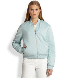 Alexander Wang T By Satin Bomber Jacket