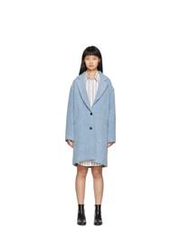 Isabel Marant Etoile Blue Boucle Dante Coat