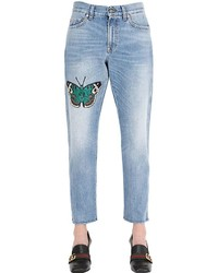 Gucci Boyfriend Butterfly Patch Denim Jeans