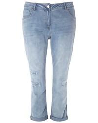 Evans Plus Size Repaired Boyfriend Jeans