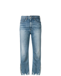 3x1 W4 Relaxed Split Crop Jeans