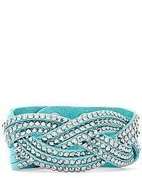 Arizona Braided Blue Suede Bracelet