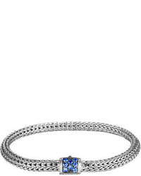 John Hardy Classic Chain Extra Small Pave Clasp Bracelet