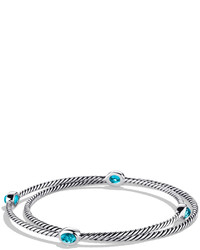 David Yurman Color Classics Bangles With Blue Topaz