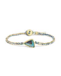 Brooke Gregson Ellipse 18 Karat Gold Silk And Opal Bracelet