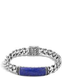 John Hardy Gourmette Classic Chain Bracelet With Lapis