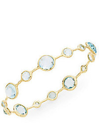 Ippolita Lollipop Blue Topaz 18k Yellow Gold Bangle Bracelet