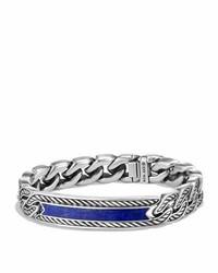 David Yurman Maritime Curb Link Id Bracelet Lapis