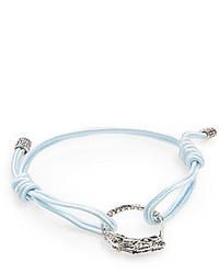 John Hardy Naga Sterling Silver Cord Braceletlight Blue