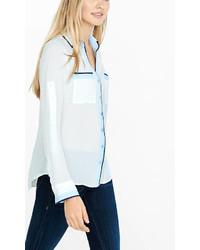 Original Fit Ivory Double Piped Portofino Shirt