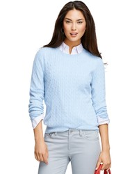Light blue cable sweater original 2882769