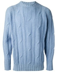 Light Blue Cable Sweaters for Men | Men's Fashion