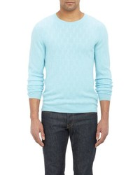 Etro Broken Cable Knit Sweater Blue