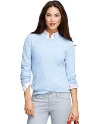 Brooks brothers cashmere cable crewneck sweater medium 180687