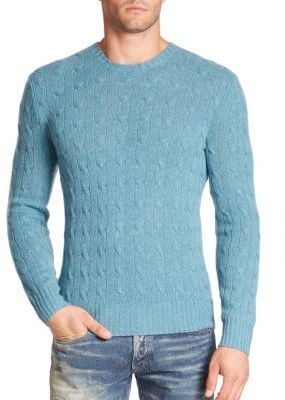 ... Blue Cable Sweaters Polo Ralph Lauren Cable Knit Cashmere Sweater