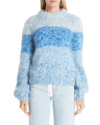 Ganni Julliard Stripe Mohair Wool Sweater