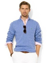 Polo Ralph Lauren Cabled Cashmere Crewneck Where To Buy