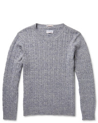 Gant Rugger Mlange Cable Knit Cotton Sweater