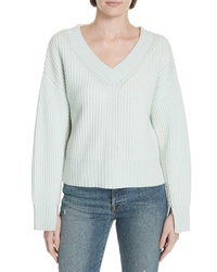 Lewit Stitch Detail Ribbed Cashmere Sweater