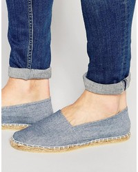 Light Blue Canvas Espadrilles
