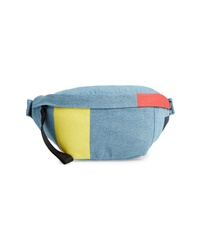 Light Blue Canvas Fanny Pack