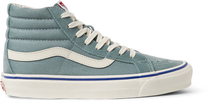 9824a8ba2e8e ... Light Blue Canvas High Top Sneakers Vans Og Sk8 Hi Lx Suede And Canvas High  Top Sneakers ...