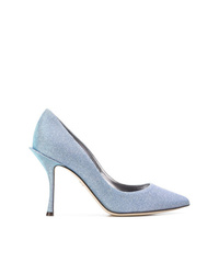 Light Blue Canvas Pumps