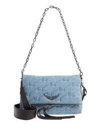 Light Blue Canvas Satchel Bag