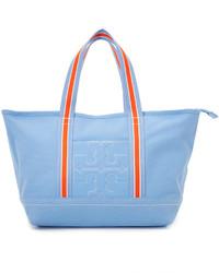Light Blue Canvas Tote Bag