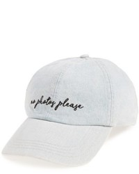 No Photos Baseball Cap Blue