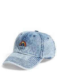 Washed Denim Baseball Cap Blue