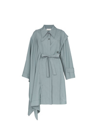 Light Blue Cape Coat