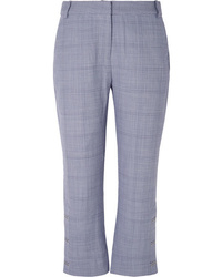 Dion Lee Cropped Checked Wool Flared Pants