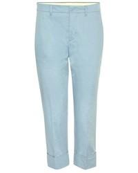Miu Miu Cropped Cotton Trousers