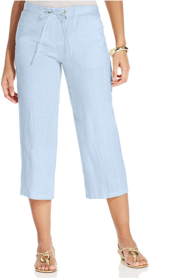 JM Collection Linen Capri Pants | Where to buy & how to wear