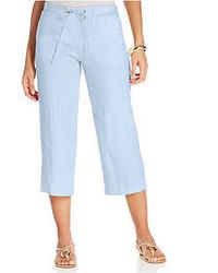 JM Collection Linen Capri Pants