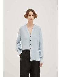Nehera Mercerized Cotton Cardigan Grey Blue