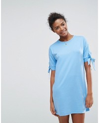 Asos T Shirt Dress With Bow Sleeve