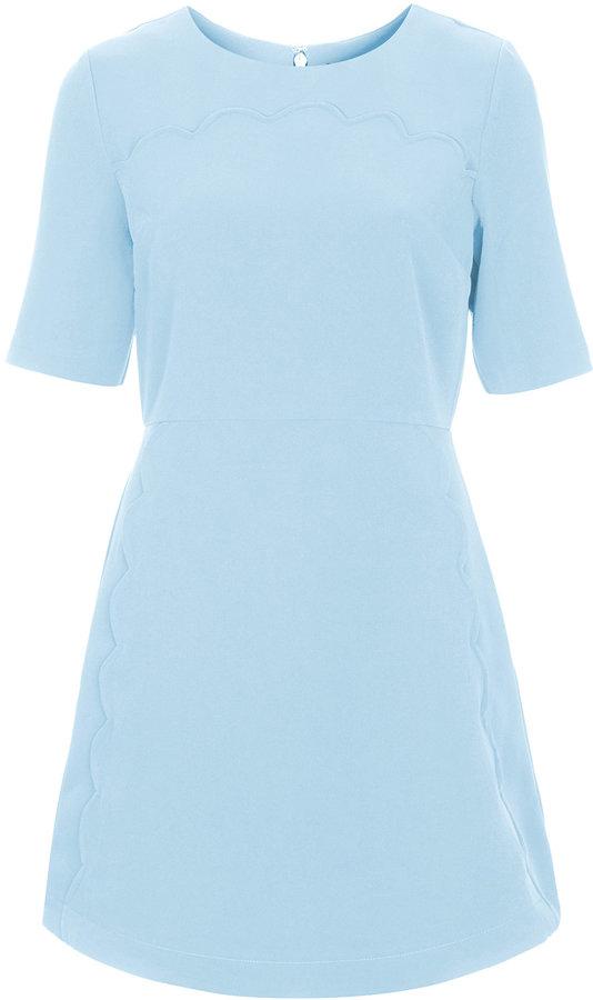Light blue casual dresses