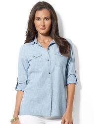 Lauren Ralph Lauren Buttoned Chambray Shirt