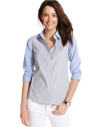 Tommy Hilfiger Colorblocked Chambray Shirt