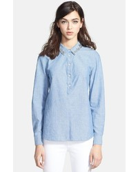 Kate Spade New York Xander Embellished Chambray Shirt