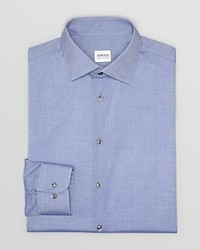 Armani Collezioni Solid Chambray Dress Shirt Regular Fit