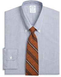 Brooks Brothers Regent Fit Chambray Hairline Dobby Dress Shirt